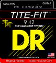 DR struny do gitary elektrycznej TITE-FIT  9-42