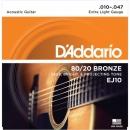 D'Addario EJ10 10-47 - struny do gitary akustycznej
