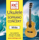 RC Strings UWSC70 Ukulele Soprano-Concert set. White - Struny do Ukulele