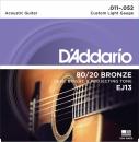 D'Addario EJ13 11-52 - struny do gitary akustycznej