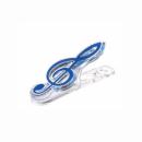 KERA AUDIO CLIP CLEF niebieski - klips klucz wiolinowy niebieski