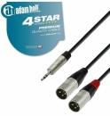 Adam Hall - Jack 3.5 stereo / 2x XLR gniazdo 1.8m
