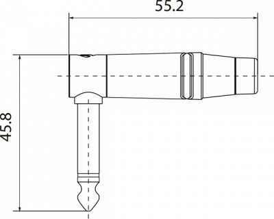 ROXTONE RJ2RPP-BK-NN - Wtyk typu Jack kątowy mono