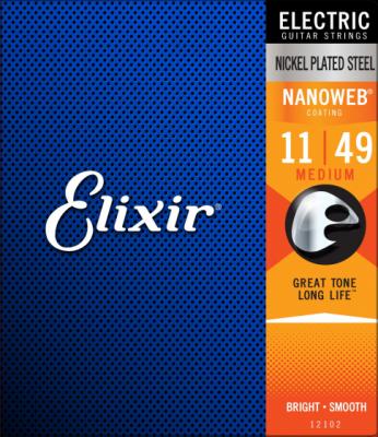 Elixir struny do gitary elektrycznej NANOWEB 11-49