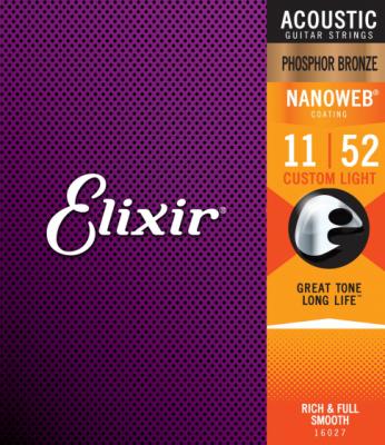 Elixir struny do gitary akustycznej NANOWEB Phosphor Bronze 11-52