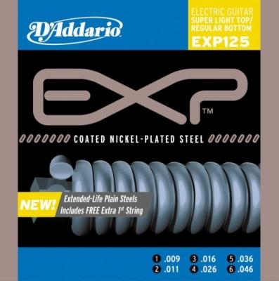 D'addario EXP125 9-46 - struny do gitary elektrycznej