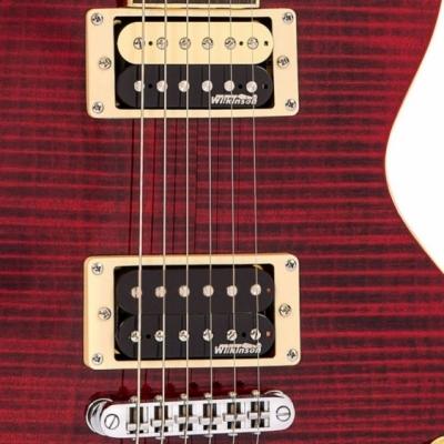 Vintage V100TWR - Gitara elektryczna  Flamed Wine Red