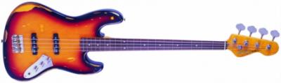 Vintage V7MRJP - Bezprogowa Gitara Basowa Sunburst