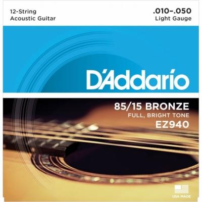 D'Addario EZ940 10-50 - struny do gitary akustycznej 12-str