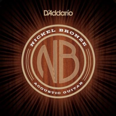 D'Addario NB1253 Nickel Bronze 12-53 - struny do gitary akustycznej
