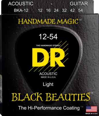 DR struny do gitary akustycznej BLACK BEAUTIES 12-54