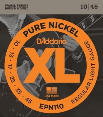 D'Addario EPN110 10-45 - struny do gitary elektrycznej