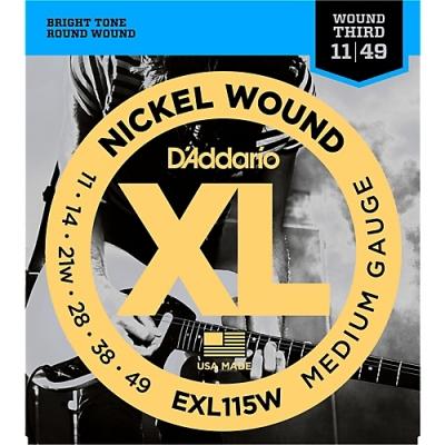 D'Addario EXL115W 11-49 - struny do gitary elektrycznej