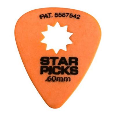 Cleartone kostka do gitary STAR PICKS 0.60 pomarańczowa