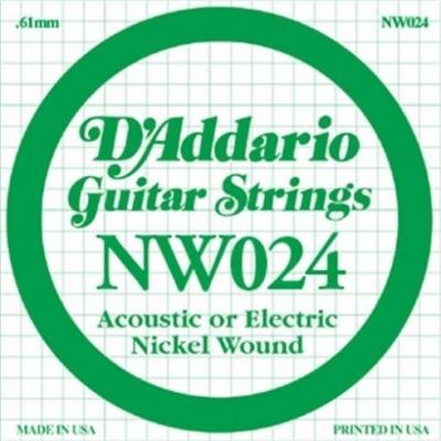 D'Addario NW024 - struna pojedyncza 0.24