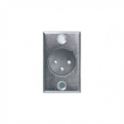 Proel XLR3MP XLR 3-pin gniazdo montażowe aluminium