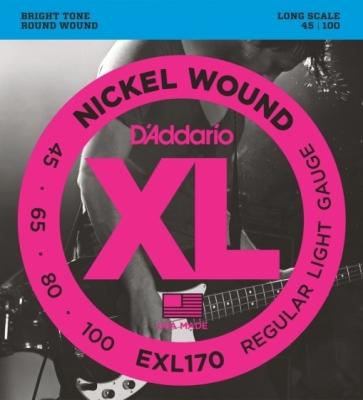D'Addario EXL170 45-100 - struny do gitary basowej