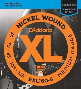D'Addario EXL160-5 50-135 - struny do gitary basowej 5-str