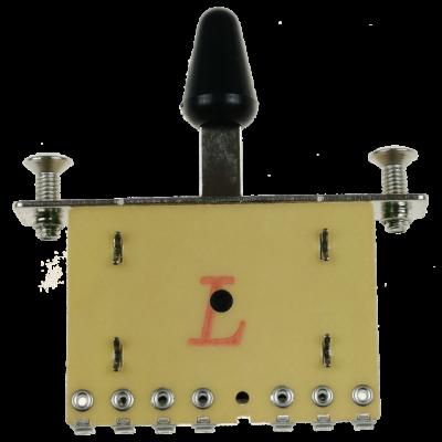 Kera Audio 5P/SQ/ST/Czarny - Przełącznik 5-pozycyjny
