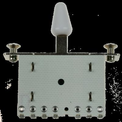 Kera Audio 5P/SQ/ST/Biały - Przełącznik 5-pozycyjny