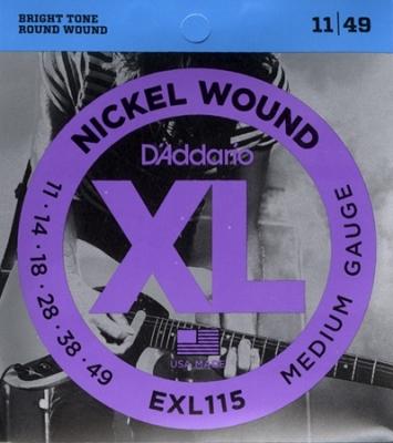 D'Addario EXL115 11-49 - struny do gitary elektrycznej