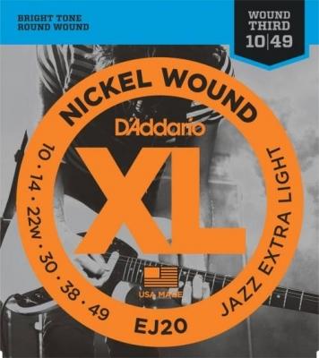 D'Addario EJ20 10-49 - struny do gitary elektrycznej