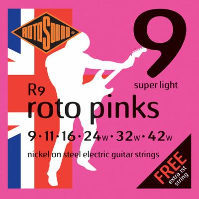 Rotosound R9 - Super Light [9-42] niklowane do gitary elektrycznej