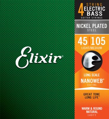Elixir NanoWeb MEDIUM 45-105 - struny do gitary basowej