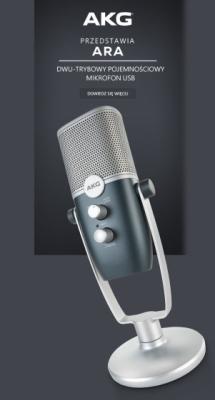 ESS Audio - AKG ARA - Profesjonalny mikrofon pojemnościowy USB!