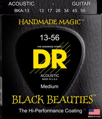 DR struny do gitary akustycznej BLACK BEAUTIES 13-56