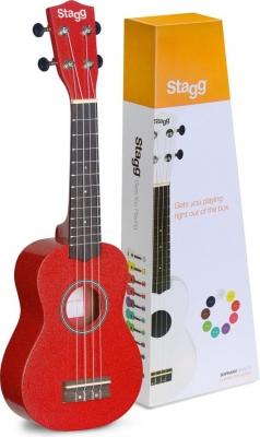 Stagg US-RED - ukulele sopranowe-12767