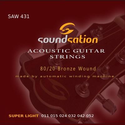 Soundsation SAW431 Super Light - struny do gitary akustycznej-12552