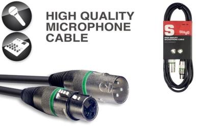 Stagg SMC10 XX GR– kabel mikrofonowy 10 m z oznaczeniem końcówek-6217