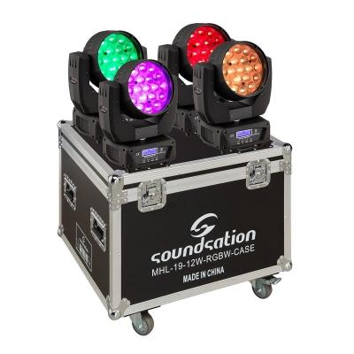 Soundsation MHL-19-12W-RGBW SET - zestaw 4 ruchome głowy LED-12170