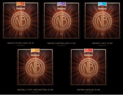 D'Addario NB1152 Nickel Bronze 11-52 - struny do gitary akustycznej