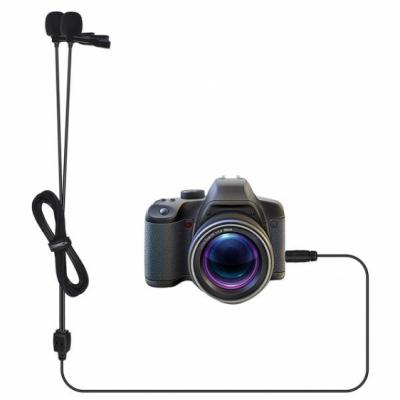 Comica CVM-D02 B 2.5M - podwójny mikrofon lavalier do kamery, aparatu, smartfona