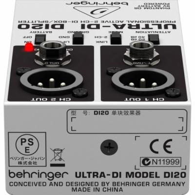 Behringer DI20 - di-box 2-kanałowy, aktywny