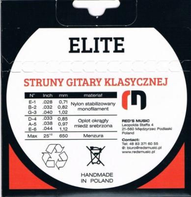 Reds Music Struny do gitary klasycznej ELITE