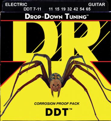 DR struny do gitary elektrycznej DDT 11-65 7-str