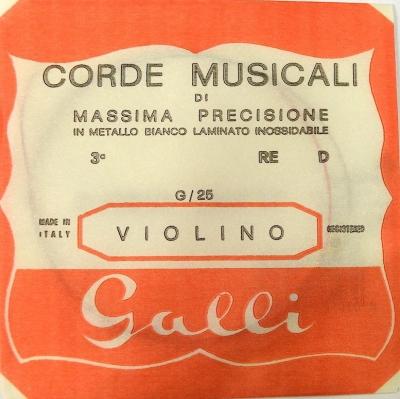 Galli G-025 - pojedyncza struna do skrzypiec D-3-6140