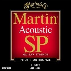Martin MSP-4100 Phosphor Bronze 12-54 - struny do gitary akustycznej