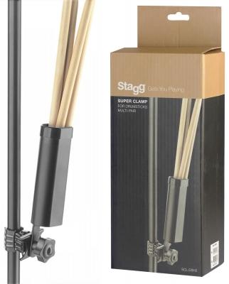Stagg SCL-DSH2 - uchwyt na pałki perkusyjne z zaciskiem-13526