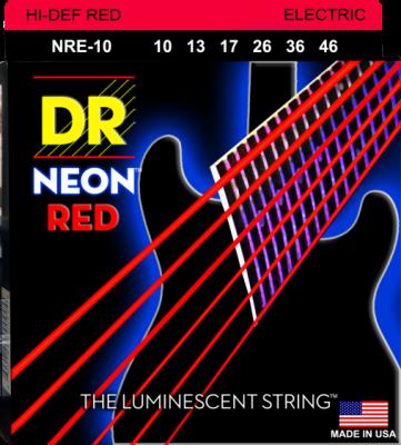 DR struny do gitary elektrycznej NEON RED 10-46