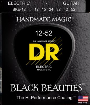 DR struny do gitary elektrycznej BLACK BEAUTIES 12-52