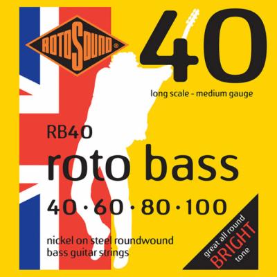Rotosound RB40 - 4 struny bas [40-100] niklowane