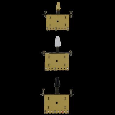 Kera Audio 3P/SQ/ST/Biały - Przełącznik 3-pozycyjny