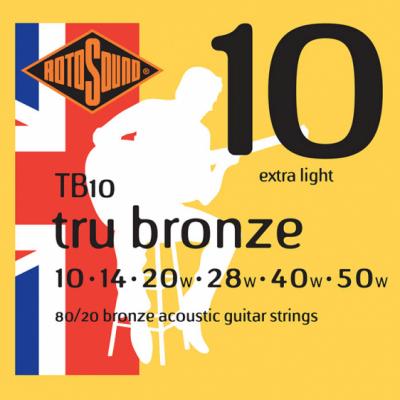 Rotosound TB10 [10-50] owijka brąz struny do gitary akustycznej
