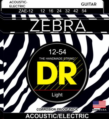 DR struny do gitary akustycznej ZEBRA 12-54