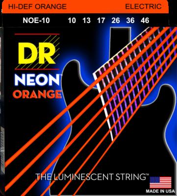 DR struny do gitary elektrycznej NEON ORANGE 10-46