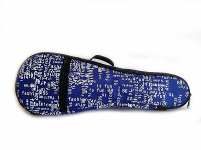 Zebra Pokrowiec do ukulele sopranowego niebieski w znaczki